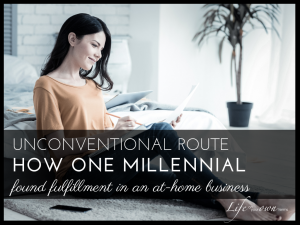 Millennial in at-home business